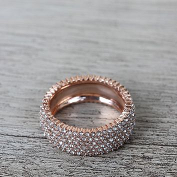 Rhinestone Encrusted Band Ring
