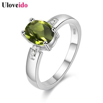 10% Off Silver Women's Jewelry Vintage Rings for Women Cute Ring with Stones Birthday Gifts Sale Female Costume Jewellery Y3368