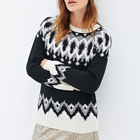 Abstract Geo-Patterned Sweater