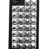 GYPSY WARRIOR - Silver Studded Black iPhone Case