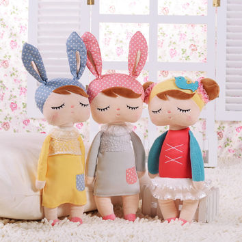 30cm New Metoo Cartoon Stuffed Animals Angela Plush Toys Sleeping Dolls for Children Toy Birthday Gifts Kids #87677