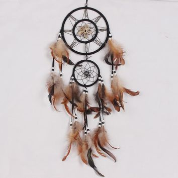 Indian dream catcher decor hanging with Circular Feathers