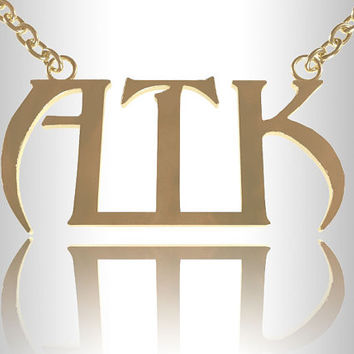 Gold 14K Fill Personalized Gothic Initial Necklace Name Bar Any Name,nameplate monogram,celebrity