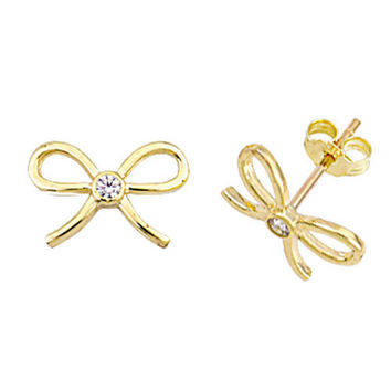 Bow 14k Solid Gold Earring Best Price