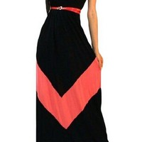 Women's Casual Print Sleeveless Maxi Dress