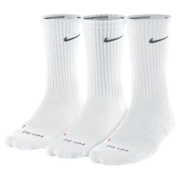 Nike Dri-FIT Cushioned Crew (3 Pair) Training Socks. Nike.com
