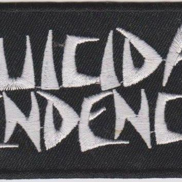 Suicidal Tendencies Iron-On Patch Rectangle White Letters Logo