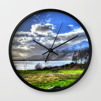 Scotland Wall Clock by Haroulita | Society6