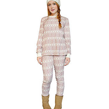 Adult Fair Isle Bee PJ Set - Burts Bees Baby