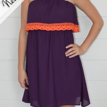 Trimmed in Lace - Clemson Gameday Dress