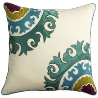 Jewel-Tone Suzanni Pillow