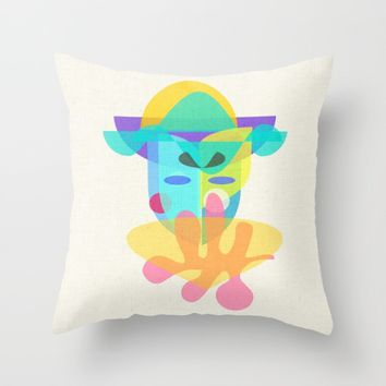 The Mask Throw Pillow by Mirimo | Society6