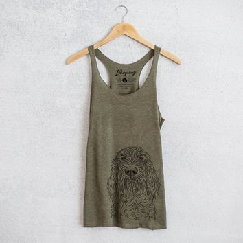 Stefano the Spinone Italiano - Tri-Blend Racerback Tank Top