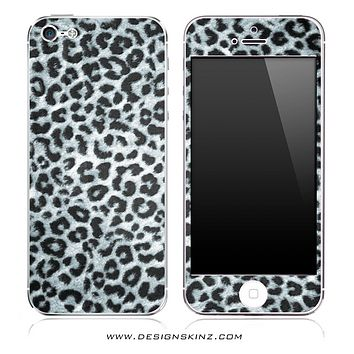 Real Black & White Leopard iPhone Skin