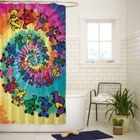 Grateful Dead and Dancing Bears High Quality Bathroom Shower Curtain 60x72 Inch