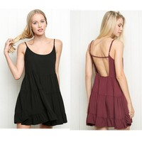 Female Brandy Melville Spaghetti Strap One-piece Dress Laciness Sleeveless See-through Chiffon Women's Dresses