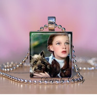 Wizard of Oz Dorthy Toto scrabble necklace by DesignsbyChastity