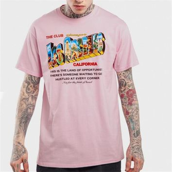 ca qiyif Retro Los Angeles print t shirt