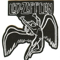 Led Zeppelin Iron-On Patch Swan Song Icarus Logo