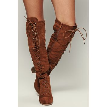 Love Galore Faux Suede Boot (Tan)