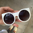 Bold Round Cat Eye Sunglasses