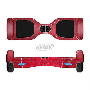 The Pocket with Red Scratched Hearts Full-Body Skin Set for the Smart Drifting SuperCharged iiRov HoverBoard