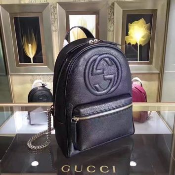 Gucci New Style Leather Jackie Soft Backpack Ba