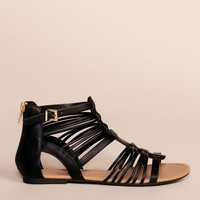 Riko Gladiator Sandals - Black