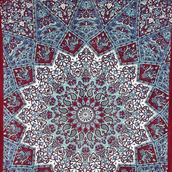 Hippy Hippie Tapestries Wall Hanging, Star Mandala Tapestries, Bohemian Bedcover, Table Runner/Sofa Cover, Twin Bedcover/Blanket, Dorm Decor