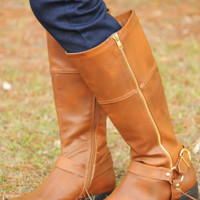 My Whole Life Boots: Cognac