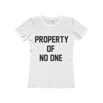 Property Of No One Women's Fitted Tee