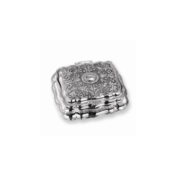 Antiqued Silver-plated Rectangular Jewelry Box