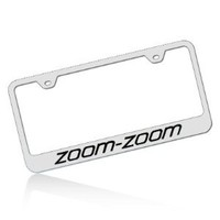 Mazda Zoom Zoom Stainless Chrome License Plate Frame