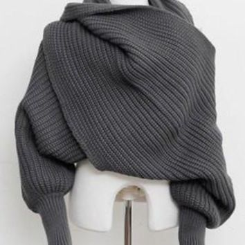 Knitted Sleeved Scarf