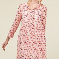 Charms My Heart Babydoll Dress in Horses | Mod Retro Vintage Dresses | ModCloth.com