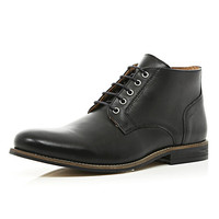 River Island MensBlack formal round toe boots