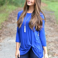 Simply Twisted Royal Blue Top