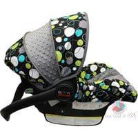 Hoopla Dots Infant Car Seat Cover- Moves to toddler