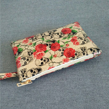 Floral Printed PU Leather Purse