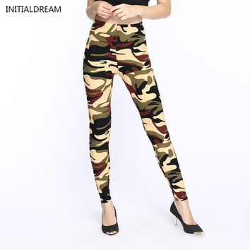 Camouflage Print Army Pants Stretch Leggings