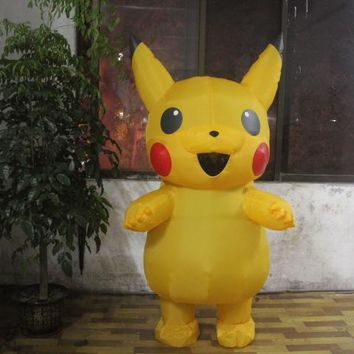 Inflatable Pikachu Costume Pokemon costume Halloween costumes