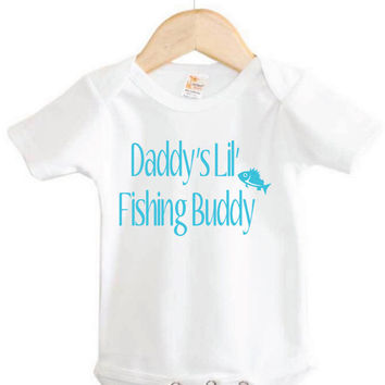 Fishing Baby Onesuit // Daddy's Lil Fishing Buddy Onesuit // outdoors // country