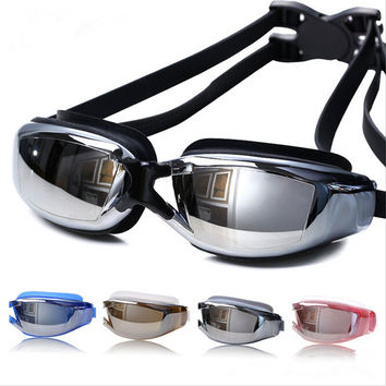 Unisex Anti Fog UV Protection Swimming Goggles Professional Electroplate Waterproof Glasses