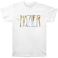 Hozier Men's  Spray Logo Slim Fit T-shirt White