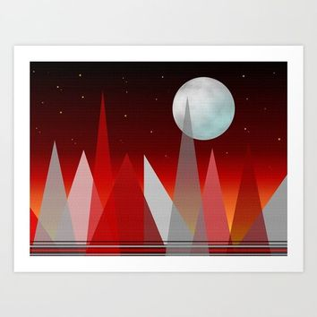 Under The Night Sky Art Print by Sartoris ART