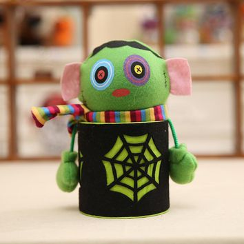New Halloween Gift Candy Jar Plastic Cookie Cans Pumpkin Zombie Ghost Candy Box