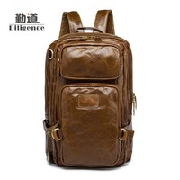 Men's Genuine Leather Vintage Fashion Backpacks New Style Totes Clutch Strap Bags Handmade Multifunctional knapsack