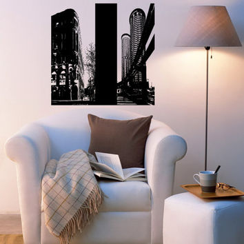 Seattle Skyline City Sights Wall Sticker Decal 2415