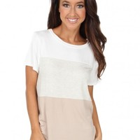 A New Start Top in Tan | Monday Dress Boutique