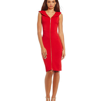 Calvin Klein Portrait-Collar Sheath Dress | Dillards
